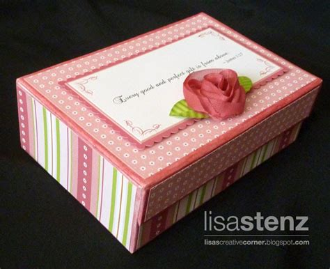 Baby Shower In A Box by Lisa S Creative Corner Baby Shower Card Box