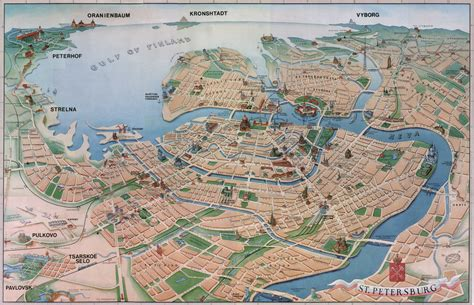 touristic map st petersburg tourist map st petersburg mappery