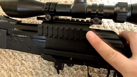 aim sports ak 47 rail side mount utg side mount rail for ak47 saiga
