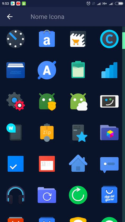 stock android icon pack frozy material design icon pack offre icone in hd e sfondi con supporto a muzei tutto