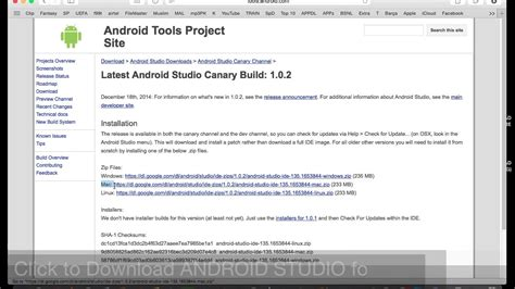 tutorial how to install android studio how to download install android studio on mac os x easy
