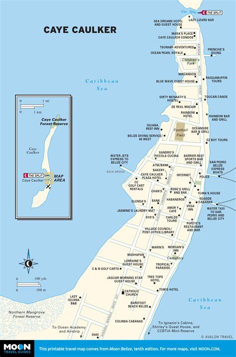 tourist map of belize printable travel maps of belize caye caulker belize and