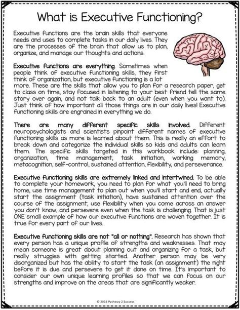 brain 2 manuscripts photographic memory memory books free executive functioning printables includes worksheets