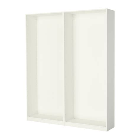 Bedroom Wardrobe Frames Pax 2 Wardrobe Frames White Ikea