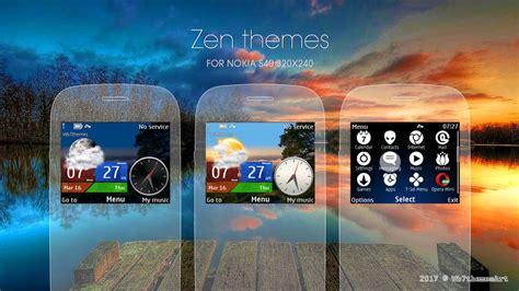 themes for nokia x2 01 with music player zen theme c3 00 x2 01 asha 302 210 205 200 201 320x240 s40