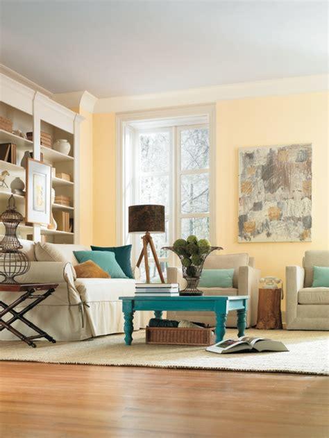wandfarbe wohnzimmer ideen gelbe wandfarbe f 252 rs wohnzimmer wohnzimmer streichen
