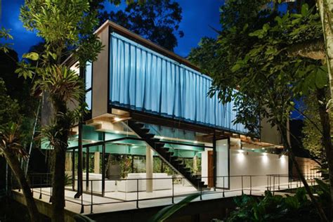 Exotic Jungle House Offers Multi Level Living Behind Glass