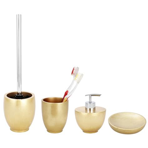wenko gold bathroom accessories set at plumbing uk