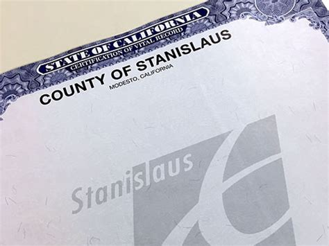Stanislaus County Records Birth Certificate Stanislaus County Newsfeed
