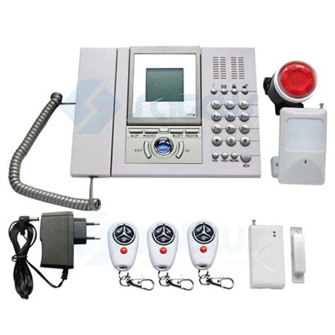 lcd telephone gsm alarm system home security system gsm