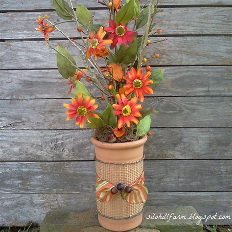 Fall Vases by Silo Hill Farm Fall Floral Vase