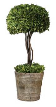 Artificial Topiaries Outdoor - uttermost tree topiary preserved boxwood 60095