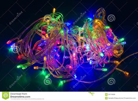 electric christmas lights festive garland royalty free