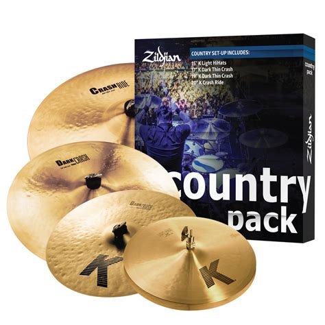 zildjian k0801c country cymbal pack compass