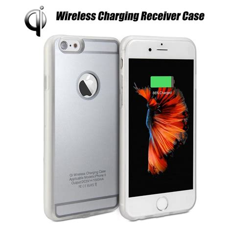 new qi standard wireless charging receiver back cover fr iphone 7 6 6s plus ebay