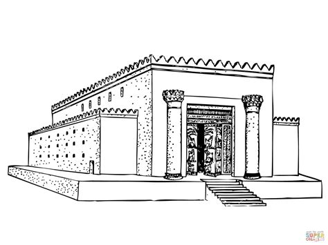coloring page of king solomon s temple solomon temple coloring page free printable coloring pages