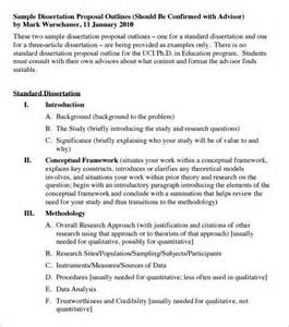 Sample Of Thesis Proposal Pdf Dissertation Outline Template 10 Free Sample Example