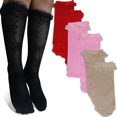 Kaos Kaki kaos kaki jala renda anak selutut 5 warna elevenia