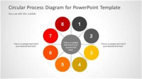 oval circular process diagram for powerpoint slidemodel 8 steps powerpoint templates