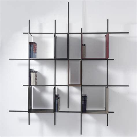 libreria a parete libreria a parete moderna libra2 in acciaio tubolare