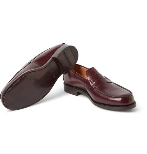 purple loafers for heschung hedera leather loafers in purple for