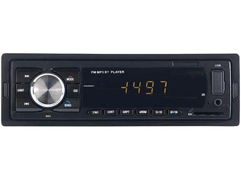 pearl kfz radio mp autoradio mit bluetooth freisprech