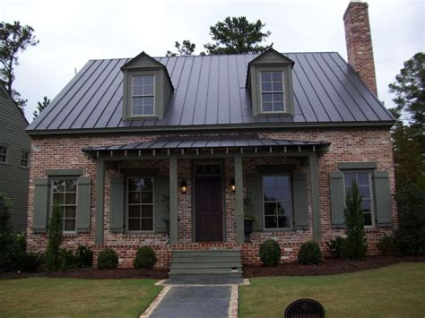 shutter colors for brick house dark brown metal roof morgan st home exterior