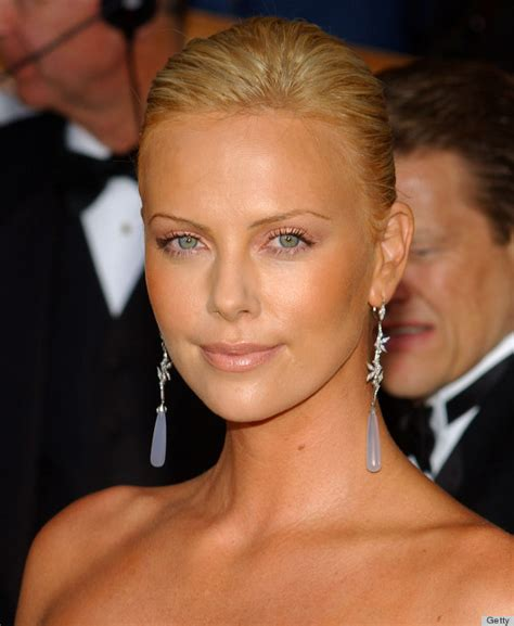 The Look For Less Charlize Therons 2005 Golden Globes Dress by Sag Awards Evolves From Pale Faces To Luminous Skin