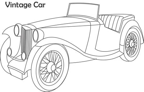 coloring page of old car printable coloring pages old school cars coloring home