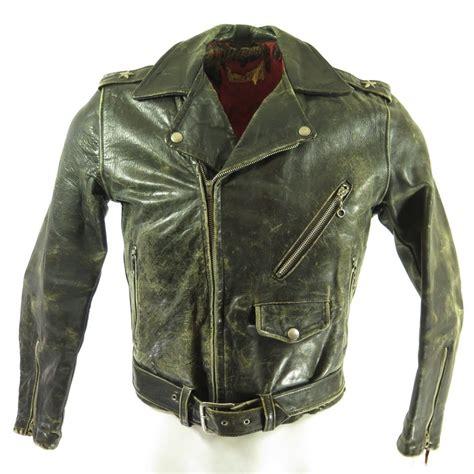 Susan Biker Leather Jacket vintage 50s horsehide leather biker jacket mens xs marlon brando motorcycle the clothing vault