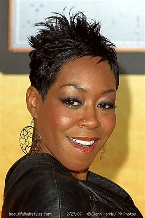short hairstyles for black women spiked on top small curls in back and sides of hair cute short haircuts for black women