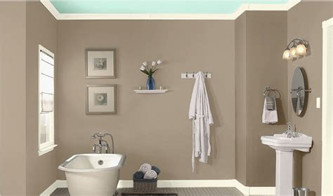 wall paint ideas for bathrooms bathroom wall color sea lilly by valspar home style
