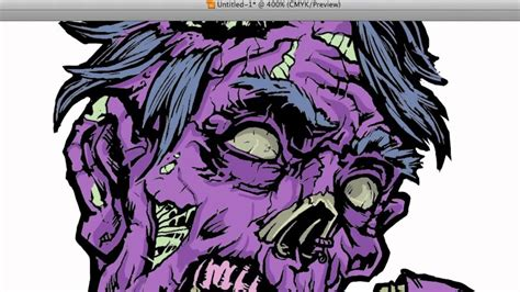 zombie tutorial illustrator zombie vector coloring in illustrator part 2 youtube