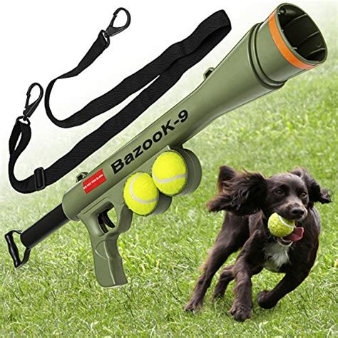 tennis thrower for dogs tennis launcher gun includes 2 squeaky balls bazooka semi automatic ebay