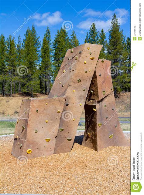 Landscape Structures Climbing Wall Rock Climbing Wall At Park Stock Photos Image 32648643