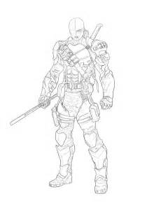 deathstroke coloring pages deathstroke outline from reference by hellacolyte on