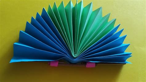 Paper Craft Fan - how to make a paper fan easy diy paper fan craft