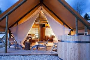 Glamping tents with hot tub picture of garden village