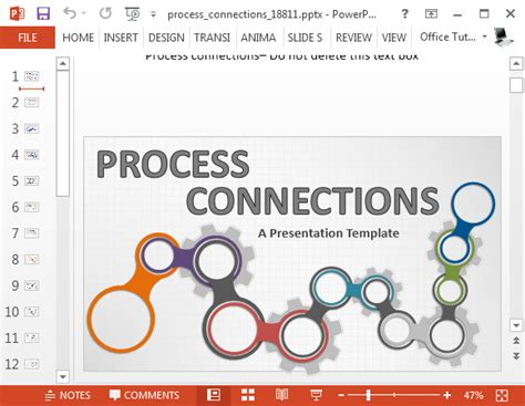 Animated Process Connections Powerpoint Template Process Template Powerpoint