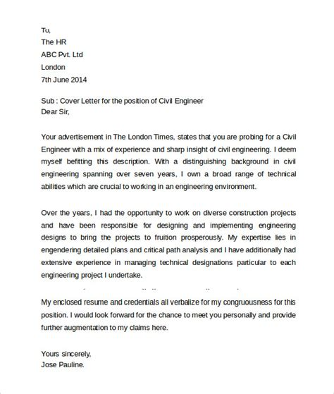 cover letter for civil engineering undergraduate 28
