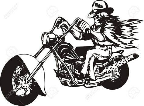 Motorrad Chopper Zeichnung by Choppers Clipart Clipground