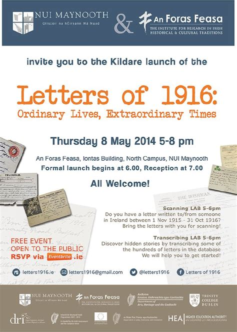 kildare council launch gis planning letters of 1916 kildare launch invitation