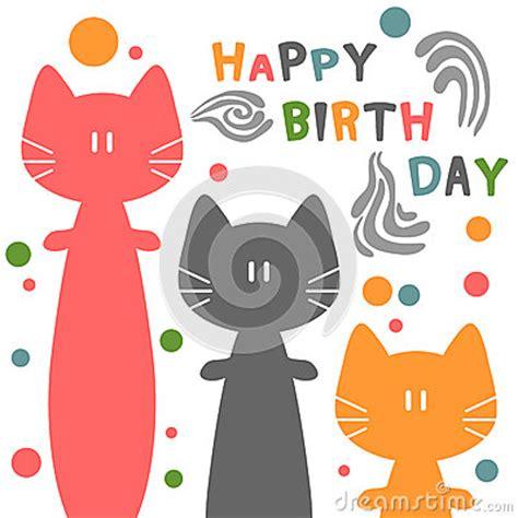 tarjetas animadas gratis de feliz cumpleaos da de reyes tarjeta de cumplea 241 os con los gatos im 225 genes de archivo