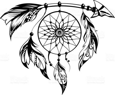 dream catcher tattoo vector hand drawn illustration of dream catcher stock vector art