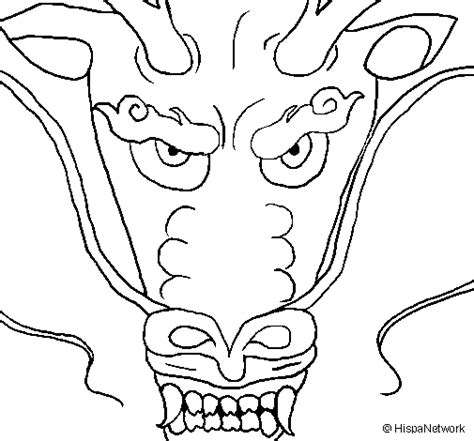 free coloring pages of chinese dragon face