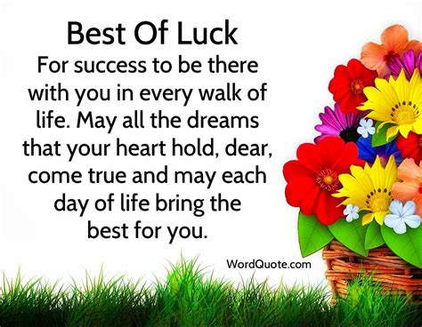 best wishes for you luck quotes and wishes word quote quotes
