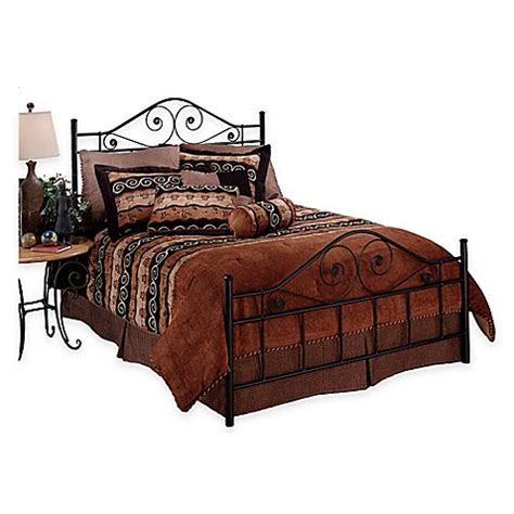 Hillsdale Harrison Bed Without Rails In Black Metal Bed Metal Bed Rails