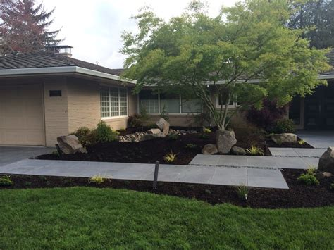 backyard architecture mid century modern landscape design ross nw watergardens
