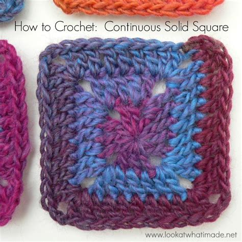 printable granny square directions how to crochet continuous solid square look at what i