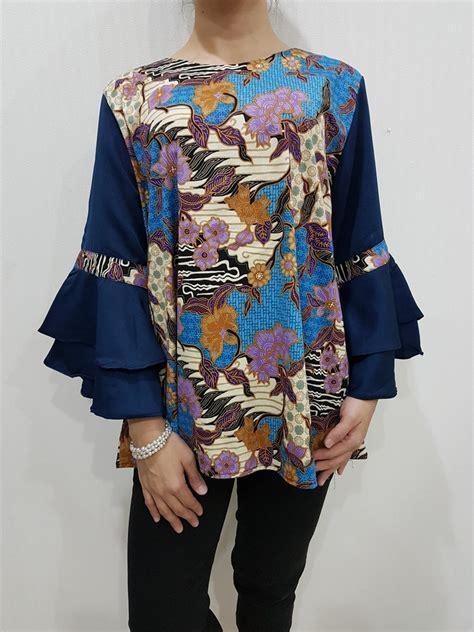 design baju atasan batik modern atasan batik wanita modern el 201 merk nurenka baju
